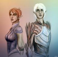 da2_brother and sister by Milulya