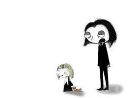 Lenore and Ragamuffin by cartoon157
