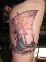 to untamed lands we sail by phoenixtattoos