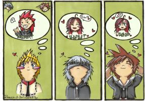 KH2: Who do you love? by Ramen-is-for-lovers
