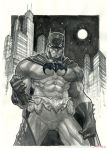 Batman Grayscale Watercolor by rogercruz