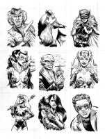 Comic sketch cards sheet 2 by dalgoda7