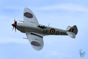 Supermarine Spitfire - Digital Painting by enzofrenzy