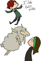 Buttpats and Sheep by Kaxen6