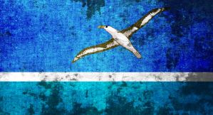 flag of Midway atoll (grunge) by flagArtist