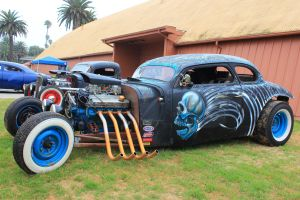 Skulled Chevy Rat Rod by DrivenByChaos