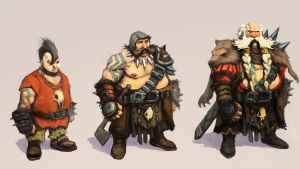 Runescape  punky Dwarves by JohnMcCambridge