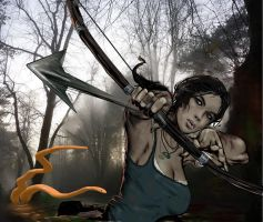 Lara Croft Bow and Arrow by 888toto