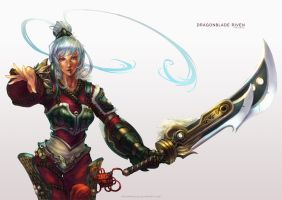 Dragonblade Riven by MonoriRogue
