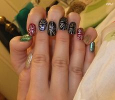 Team GB Nails by Neon-Tiger-7