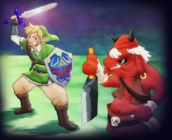 Link versus Moblin by AIBryce
