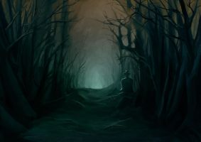 Gloomy Forest by Miteality