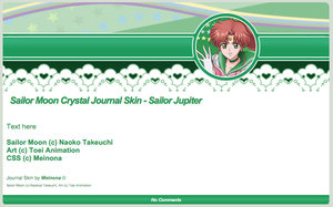SMC: Sailor Jupiter Journal Skin by Meinona