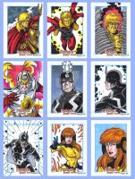 Fantastic Four Sketch Cards F by tonyperna