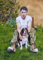 One man and his dog. by devonhants