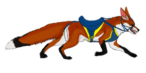 Rideable Fox Species Concept by lighteningfox