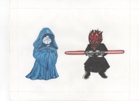 Darth Sideous and Darth Maul. by Zombean1138