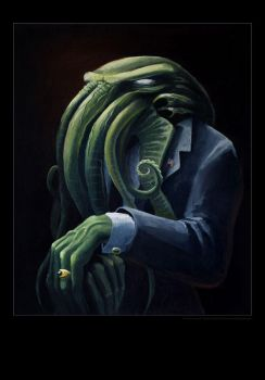 Cthulhu for president, poster by Brezelburg