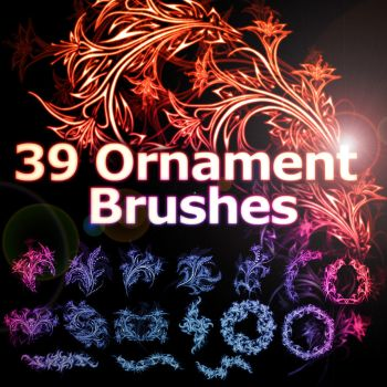 39 Floral Ornament Brushes by XResch