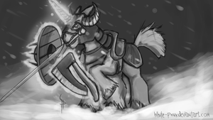 Equestrian Warlord by White-Pwny
