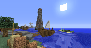 Minecraft 'Puerto de Corazon' Lighthouse by Sherio88
