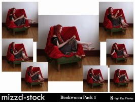 Bookworm Pack 1 by mizzd-stock