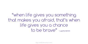 a chance to be brave by E400