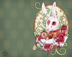 RABBIT HOLE WALLPAPER 1280x1024 by Medusa-Dollmaker