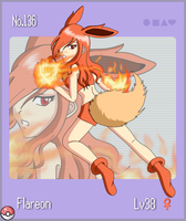 Pokemon Gijinka No.136 Flareon by flaming-albatross