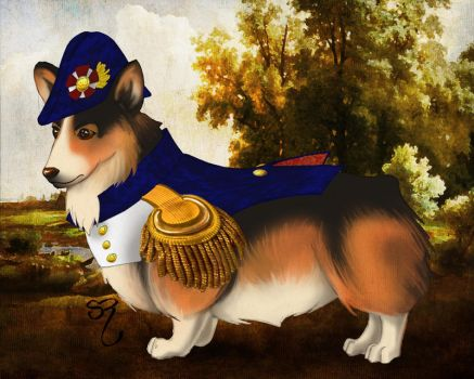 Napoleon Corgiparte by PlaidTidings
