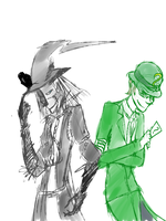 scarecrow and riddler by Rukafais