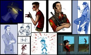 TF2 Collage by psycrowe