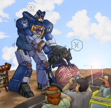 soundwave and ravage by sirenofchaos432