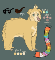 Meet my ghetto fabulous albino sloth bear by wishmo