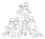 MLP Cutie Mark Crusaders and friends by Mono-Phos