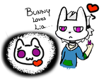 Bunny Loves Lia by Faded-Creepy