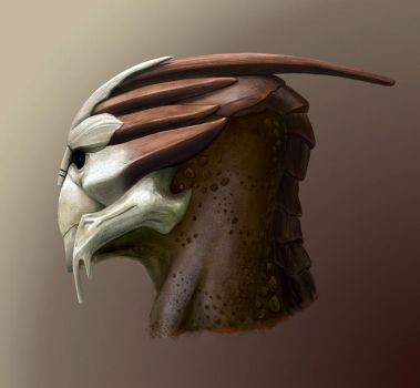 Turian head by Feierka