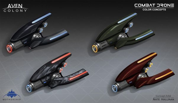 Combat Drone Colors by NateHallinanArt