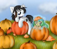 Sketchbook and Okiku Pumpkins by SpectralPony