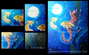 Golden Fishes by arucarrd