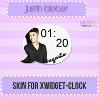 Justin Bieber skin for Xwidget~Clock by:Lucesita by LucesitaEditions