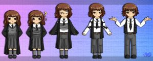 Hermione turns into a guy by raininess