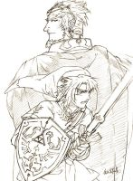 Ganon and Link by MTFY