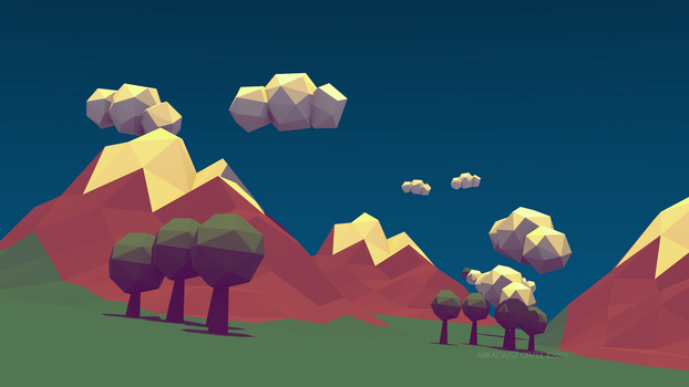 Blender - low poly world 02 by KeraVX