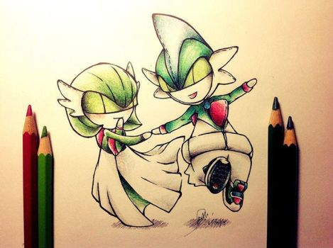 Couple Of Ralts by ZephVee