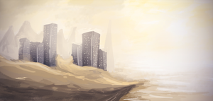 Deranged Buildings - Speedpainting 2 by ehecod