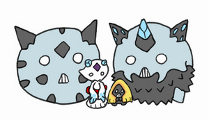 Glalie Family by BlueCatPK