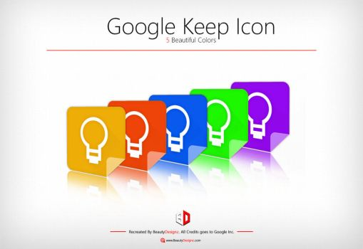 Google Keep Icon [5 Beautiful Colors] by BeautyDesignz