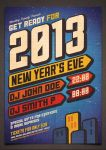 New Years Eve Party Poster (Hi Res PSD Available) by moodboy