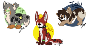 Chibi batch 1 :pc: by curdled-CHEESE
